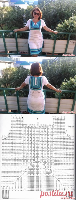El vestido-túnica por el gancho - la Labor de punto - el País de las Mamás