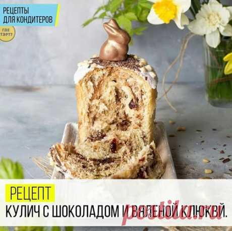 Рецепт куличей с шоколадом и вяленой клюквой