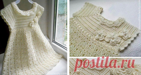 Vestido de Niña Tejido a Crochet con Patrones Gratis ⋆ Manualidades Y DIYManualidades Y DIY