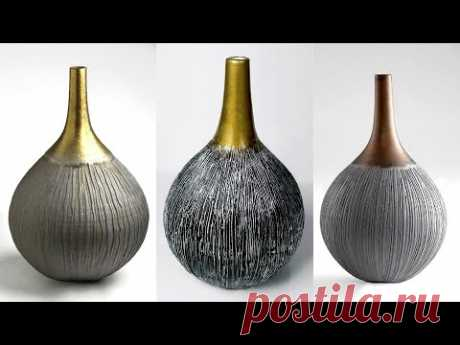 Paper Flower Vase making || Decorative Showpiece For Home Decor || Pottery making