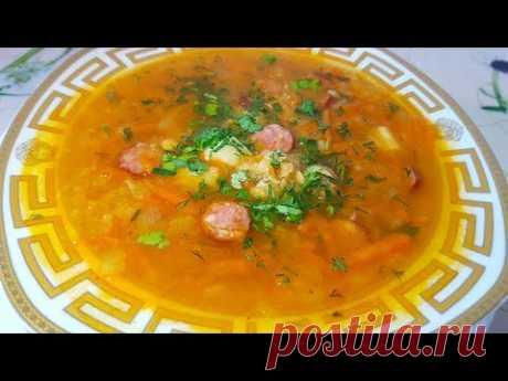 Como preparar la sopa de lentejas. La sopa de lentejas con Checo kolbaskami. La gitana prepara.