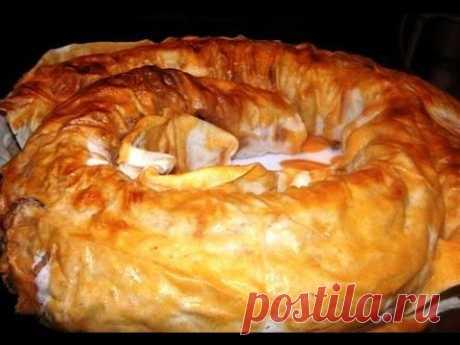 Очень вкусный пирог из лаваша с фаршем и картошкой.