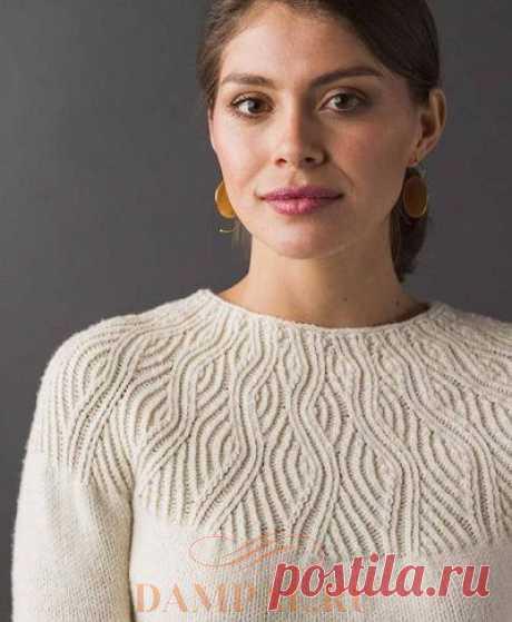 Белый пуловер «Undulating Lines» | DAMские PALьчики. ru