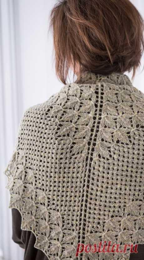 Шаль-платок спицами