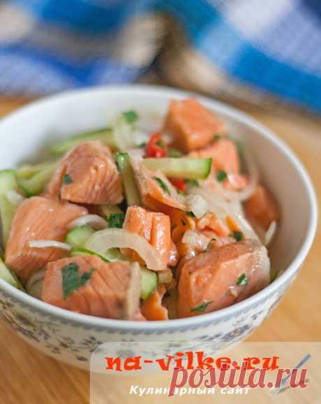 Салат хе из красной рыбы по-корейски