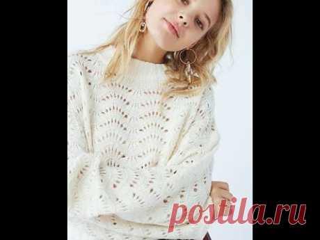 Очаровательный джемпер от модного европейского магазина  Очень легким, волнистым узором  Начинающим