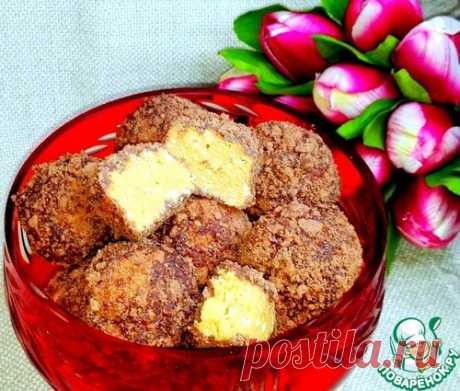 Los bombones de las galletas en el chocolate - la receta de cocina