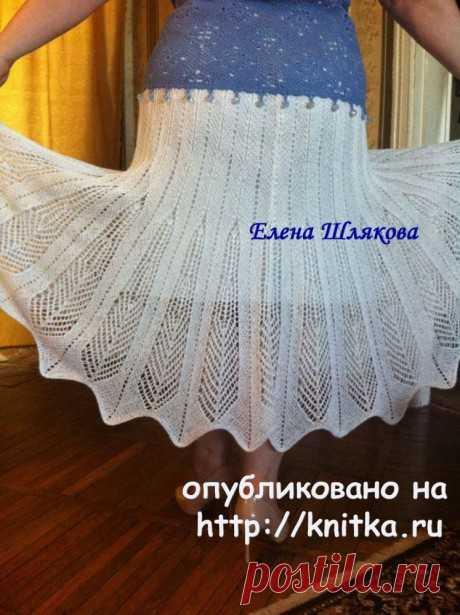 Вязаная спицами юбка. Работа Елены Шляковой, Вязание для женщин