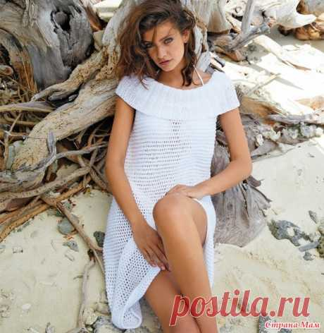 Сетчатое платье с воротником в резинку - Вязание - Страна Мам