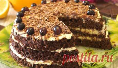 Быстрый торт за 15 минут Этот быстрый торт готовится за 15 минут. Он получается нежным, воздушным и необыкновенно вкусным. Думается, каждая хозяйка должна иметь в запасе такой рецепт.