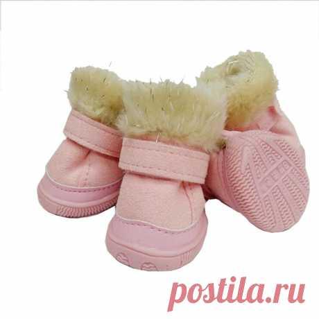 Классические зима теплая Обувь собака Снегоступы ветрозащитный antislip pet мягкая Сапоги и ботинки для девочек высокого класса износостойкие TPR Обувь Для Товары для собак домашних животных купить на AliExpress