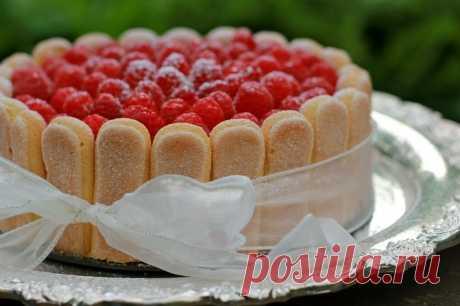 Торт с малиной - Рецепт с фото