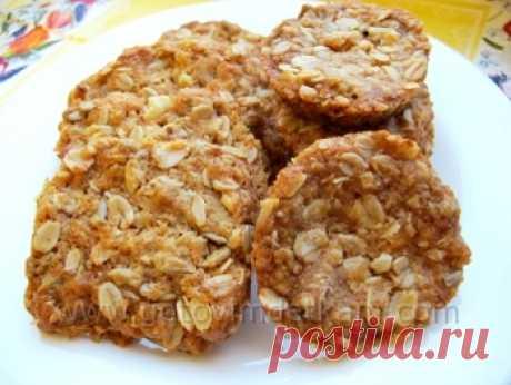 Овсяное печенье с мёдом, семечками и орехами - Детские рецепты