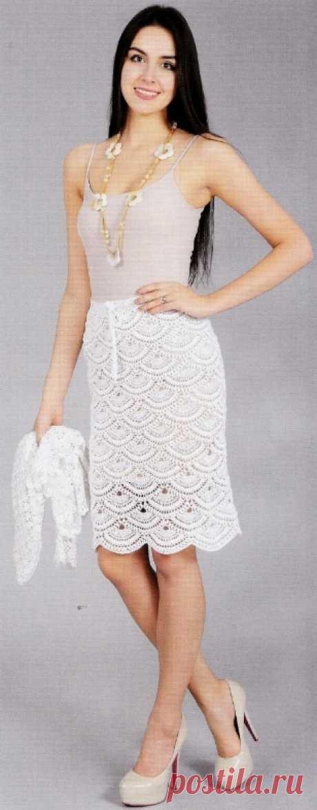 Юбка крючком - юбки крючком вязаные Вязаная юбка крючком схемы и описание для женщин.