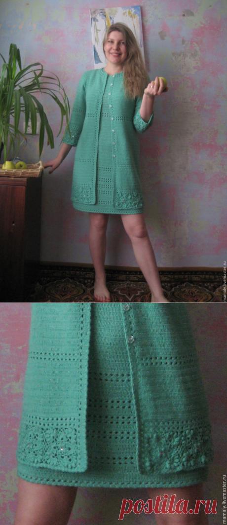 """Купить Кардиган """"Просто Лето"""" - ярко-зелёный, однотонный, одежда, одежда для женщин, кофты и свитера"""