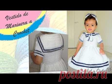 27d3e0ca6 Vestido de marinera a crochet - Parte 3 de 3