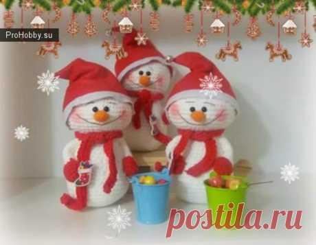 Снеговик / Вязание игрушек / ProHobby.su | Вязание игрушек спицами и крючком для начинающих, мастер классы, схемы вязания