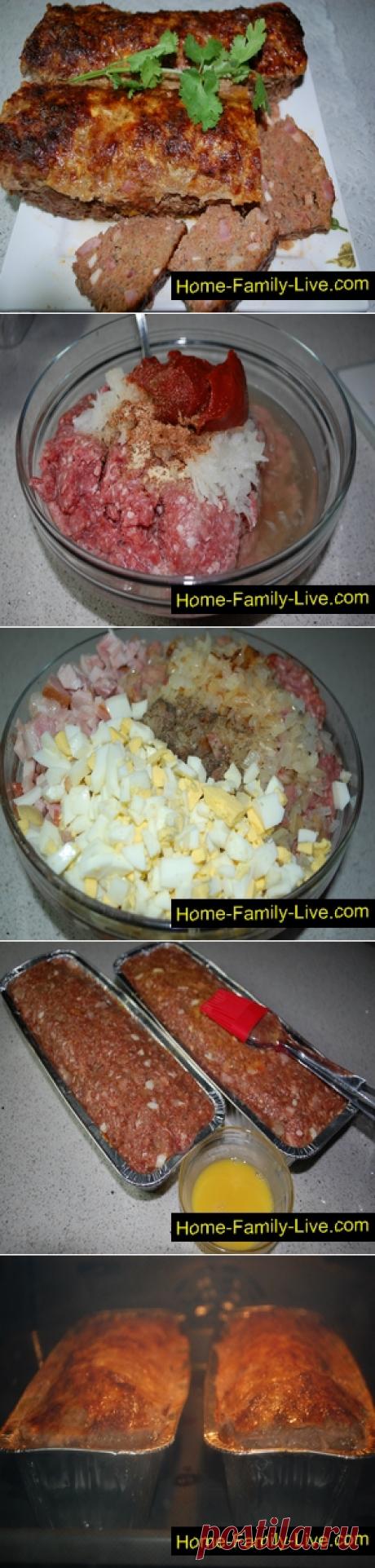 Мясной хлеб - пошаговый рецепт с фото - фальшивый заяцКулинарные рецепты