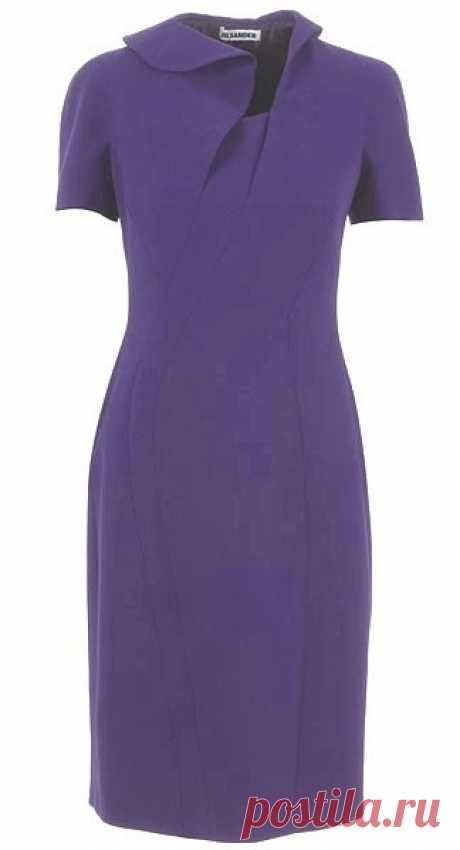 Разбираем модель фиолетового платья | Шкатулка
