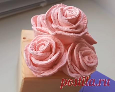 Розы из ватных дисков просто | Уроки рисования с Тессой Арт | Яндекс Дзен