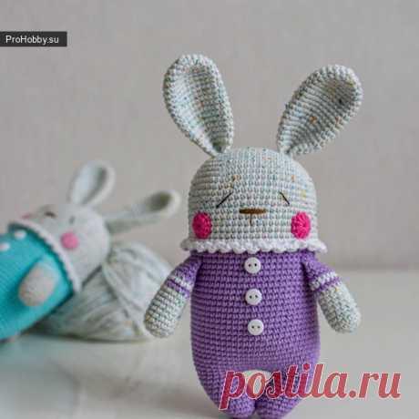 Зайчик-сплюшка амигуруми для малышей / Вязание игрушек / ProHobby.su | Вязание игрушек спицами и крючком для начинающих, мастер классы, схемы вязания