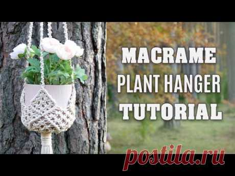 DIY Macrame Plant Hanger NEW Connected Squares Pattern