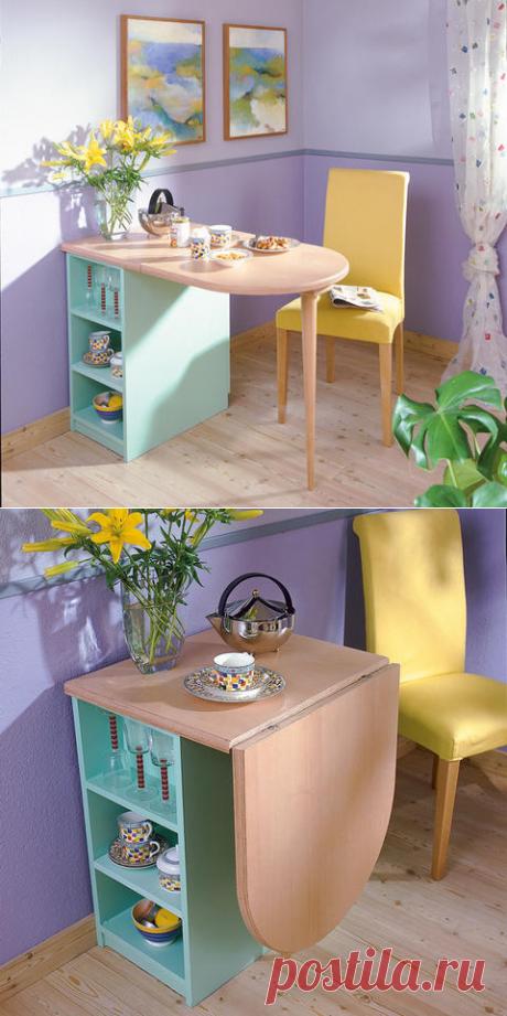 Уютный складной кухонный столик для завтрака. МК