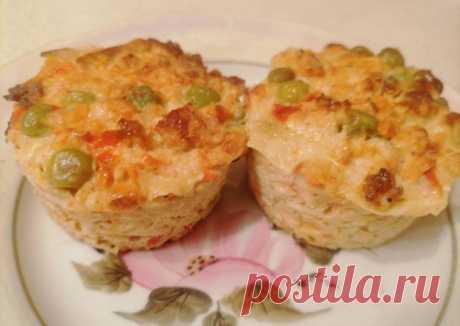 (3) Куриные маффины с сыром и овощами. Здоровое питание - пошаговый рецепт с фото. Автор рецепта Nadin Korol 👩🏻🍳 . - Cookpad