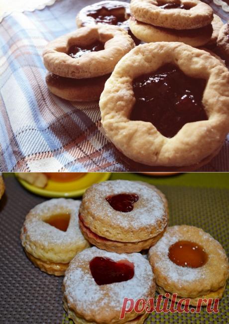 Песочное печенье с вареньем — Кулинарная книга - рецепты с фото