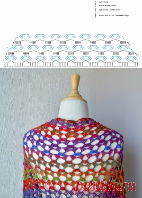 FREE crochet pattern Fairy Winterflowers Shawl - Vicarno