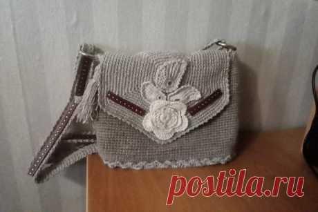 Летняя сумочка из джута