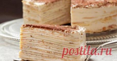 Торт «Крепвиль» превратит самый обычный ужин в настоящий праздник
