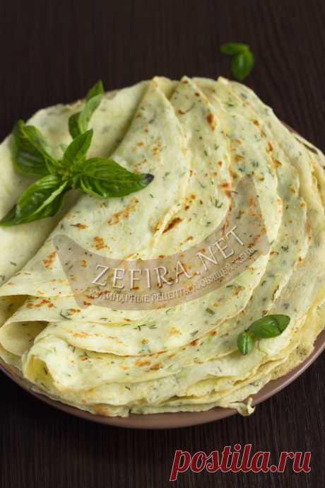 Тонкие блинчики из кабачков — Кулинарные рецепты любящей жены