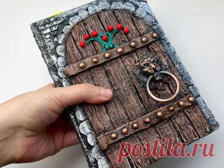 Мастер-класс : Декор блокнота. Как сделать имитацию деревянной двери | Журнал Ярмарки Мастеров
