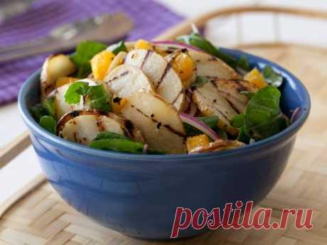 Салат из жаренного на гриле картофеля рецепт | Гранд кулинар