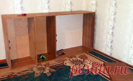 Как мы сделали уголок рукодельницы из старого шкафа