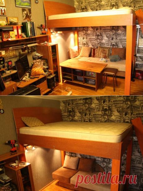 Самодельная кровать-чердак — Сделай сам
