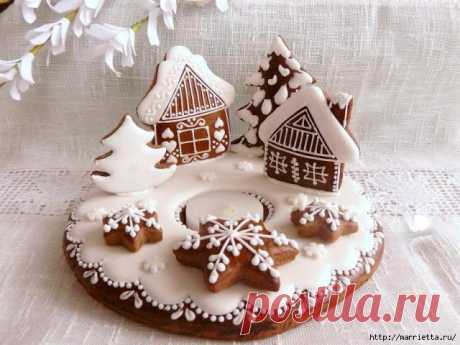 """Christmas gingerbreads. Recipe of the test, idea and master class in a list.\"""" Female World"""