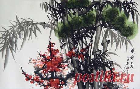 Постигай учения сосны, бамбука и цветущей сливы. Сосна вечно зелена, прочно укоренена и солидна. Бамбук крепок, гибок, несокрушим. Сливовый цвет дерзок, ароматен и изящен.  © М. Уесиба