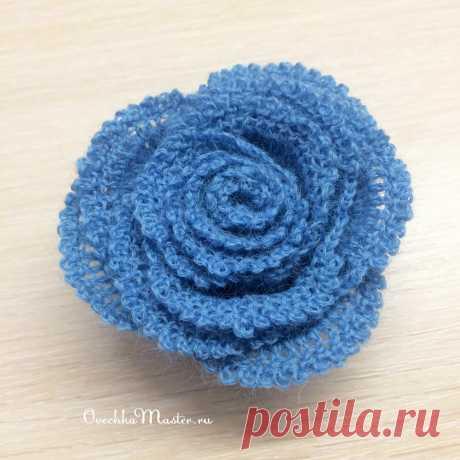 Вяжем полоску - получаем розу. Еще один узор в вашу коллекцию   Рукоделие от OvechkaMaster.ru   Яндекс Дзен