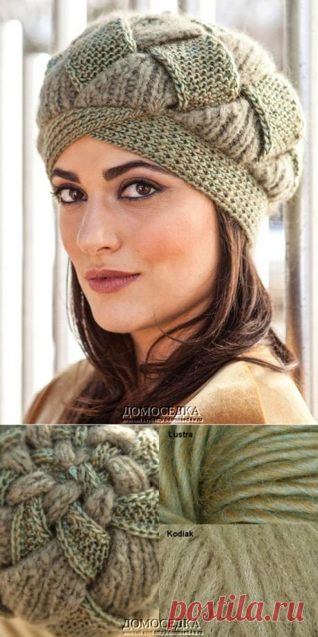Оригинальная шапка спицами | ДОМОСЕДКА