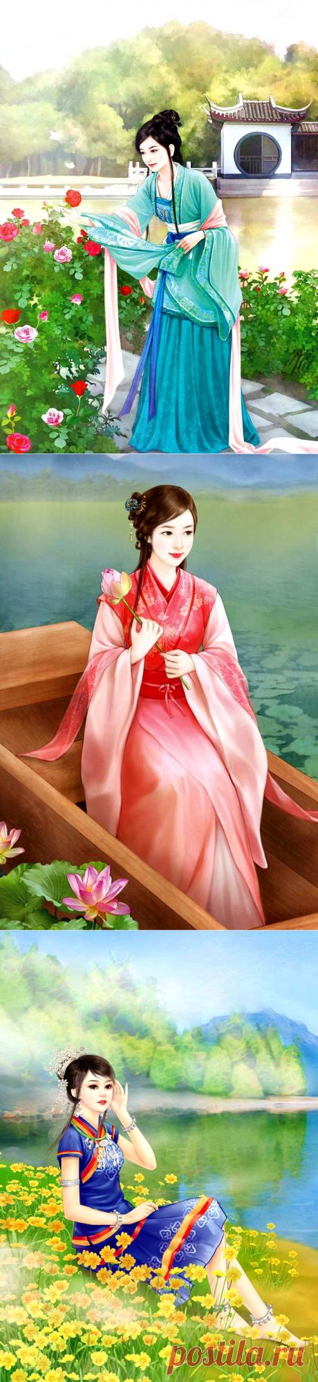 Прекрасны благородные черты... Китайская живопись.