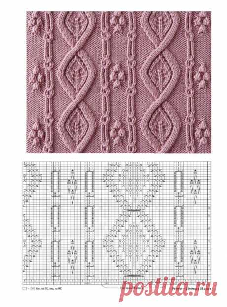 Подборка чудесных узоров для вязания на спицах