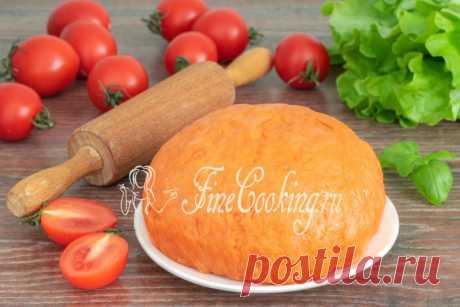 Постное томатное тесто Интересный и оригинальный рецепт постного бездрожжевого теста для пирогов и пирожков на томатном соке и растительном масле.