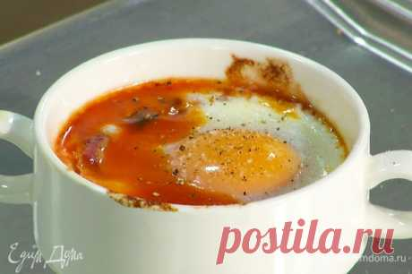 Яйцо на завтрак по-испански.