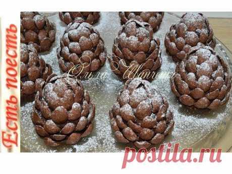 Зимние шишки - десерт без выпечки/Winter cones - dessert without baking