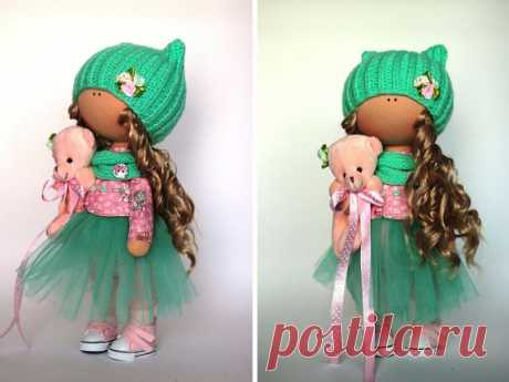 Rag doll Fabric doll Summer doll handmade by AnnKirillartPlace