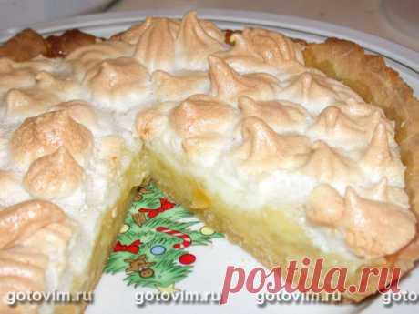 Лимонно-меренговый торт. Рецепт с фото Лимонно-меренговый торт: торт из песочного теста с лимонной начинкой и безе, мерегнги