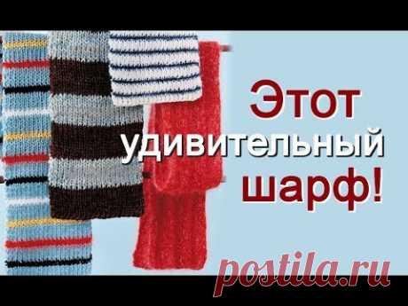 Этот удивительный шарф спицами 1.
