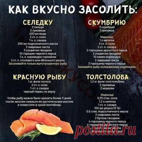 Вкусная соленая рыбка